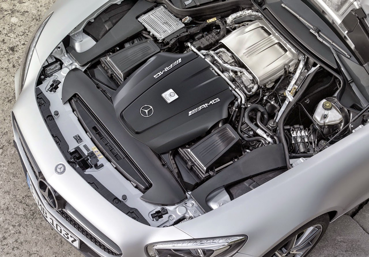 Power Comes From A Newly Developed Amg 4 0 Liter V8 Biturbo Engine Underscoring The Hallmark Of Amg Driving Performance The First Sports Car Engine From
