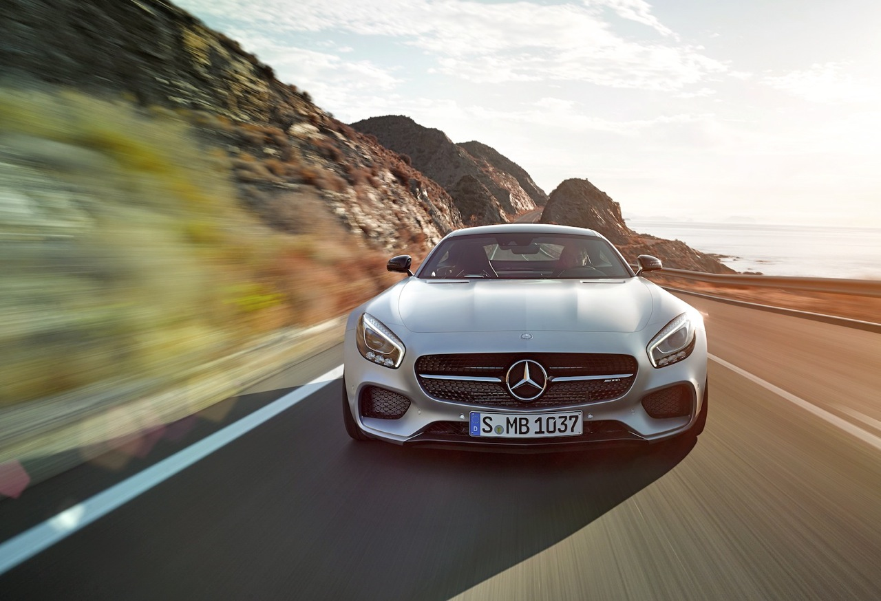 Mercedes Benz Throws Down The Gauntlet To Porsches 911 With Its Breathtaking New Amg Gt S Super Coupe Road Test Editor Howard Walker Takes It For A Spin